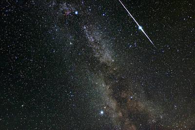Perseid Meteor Shower, Meteor Track Poster
