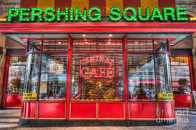 Pershing Square Central Cafe II Poster by Clarence Holmes