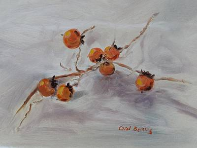 Persimmons Poster by Carol Berning