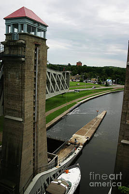 Poster featuring the photograph Peterborough Lift Lock by Alyce Taylor