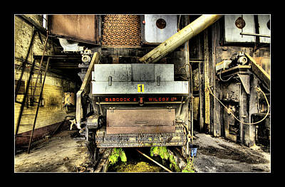 Poster featuring the digital art Peters Factory 02 by Kevin Chippindall