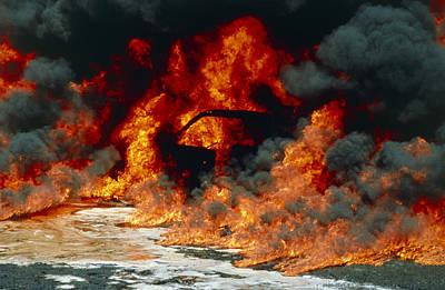 Petrol Explosion From Car Accident Poster by Kaj R. Svensson