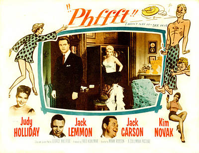 Phfft, Bottom From Left Judy Holliday Poster by Everett