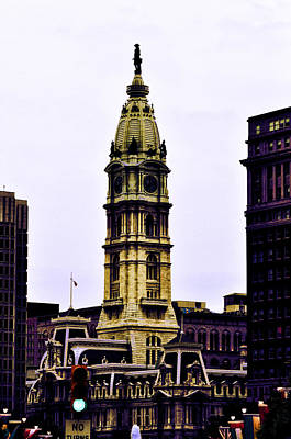 Philadelphia City Hall Tower Poster by Bill Cannon