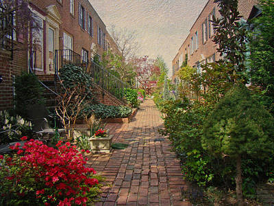Philadelphia Courtyard - Symphony Of Springtime Gardens Poster by Mother Nature