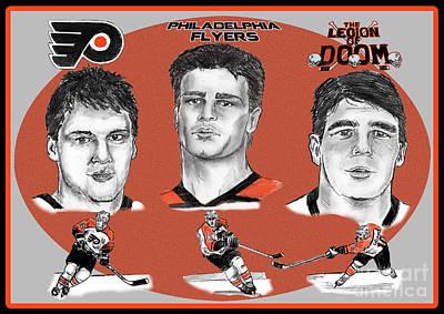Philadelphia Flyers Legion Of Doom Poster by Chris  DelVecchio