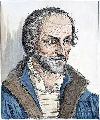 Philipp Melanchthon (1497-1560). German Scholar And Religious Reformer: Line Engraving, German, 19th Century Poster by Granger