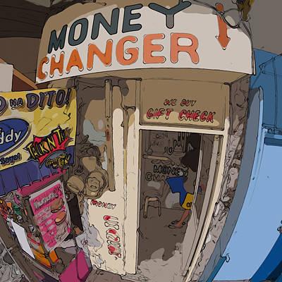 Philippines 3954 Money Changer Poster by Rolf Bertram