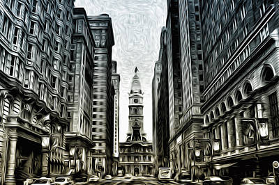 Philly - Broad Street Poster by Bill Cannon