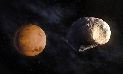 Phobos And Mars, Artwork Poster by Andrzej Wojcicki