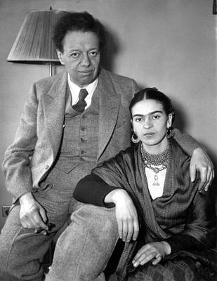 Photo Shows Diego Rivera And His Wife Poster