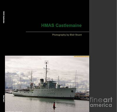 Poster featuring the mixed media Photobook On Hmas Castlemaine by Blair Stuart