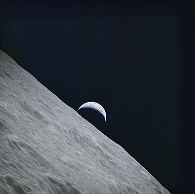 Photograph Of The Earth Taken By Apollo Poster
