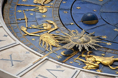 Piazza (square) San Marco, Clock Tower Detail Poster by Maremagnum