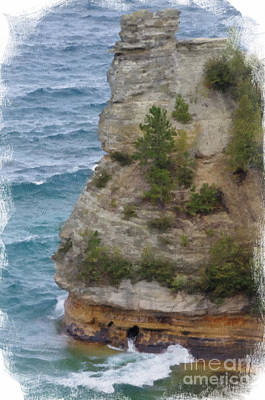 Poster featuring the photograph Pictured Rocks In Oil by Deniece Platt