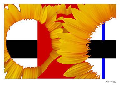 Piet's Sunflowers Poster by Xoanxo Cespon