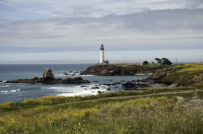 Poster featuring the photograph Pigeon Point Light Station by Paul Plaine