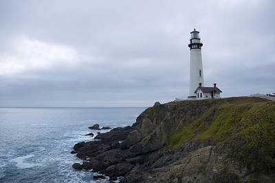 Poster featuring the photograph Pigeon Point Lighthouse by Mike Irwin