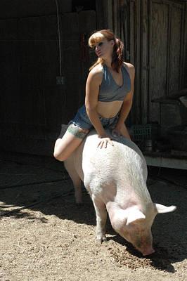 Piggy Piggy Poster by Liezel Rubin