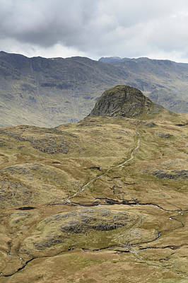 Pike Of Stickle, Langdale Pikes Poster by Stephen Spraggon