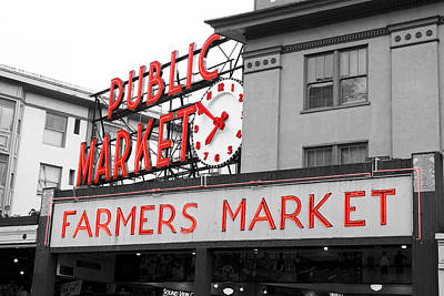 Pike Place Market Seattle Poster by Michael  Kenney