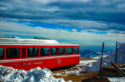 Poster featuring the photograph Pikes Peak Railway by Shannon Harrington