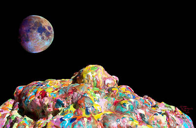 Pile Of Color In Space Two K O Four Poster by Carl Deaville