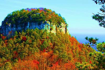 Poster featuring the photograph Pilot Mountain by Bob Whitt
