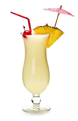 Pina Colada Cocktail Poster