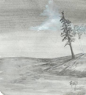 Pine And Birch Poster by Robert Meszaros