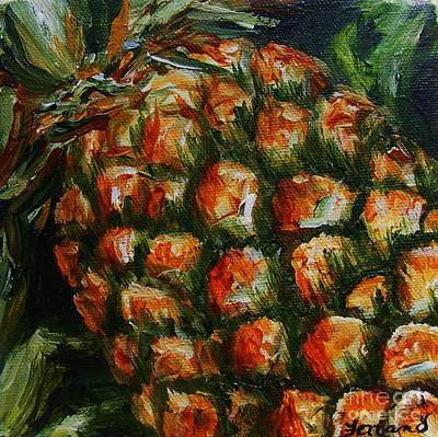 Pineapple Poster by Karen  Ferrand Carroll