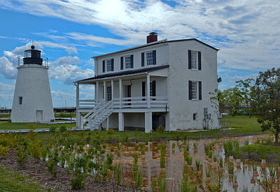 Poster featuring the photograph Piney Point Lighthouse by Kelly Reber