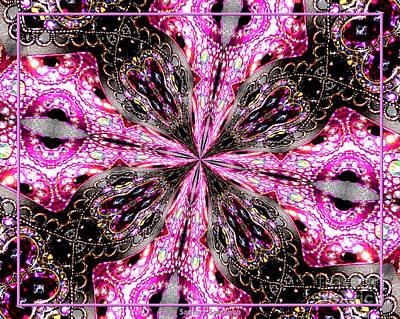 Pink And Purple Gemstones Jewelry Kaleidoscope Poster by Rose Santuci-Sofranko