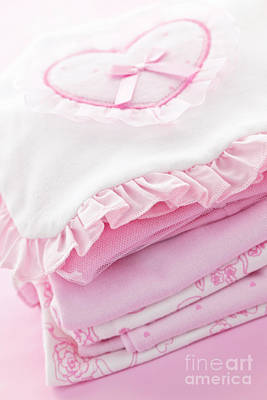 Pink Baby Clothes For Infant Girl Poster by Elena Elisseeva