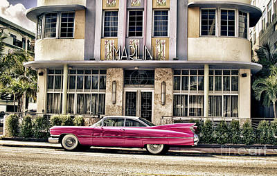 Poster featuring the photograph Pink Cadillac by Vicki DeVico