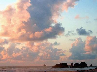 Pink Clouds Over Tillamook Poster