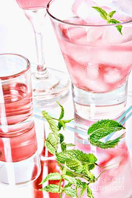 Pink Cocktails Poster