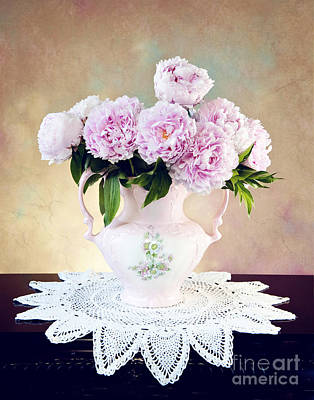 Poster featuring the photograph Pink Peonies by Cheryl Davis