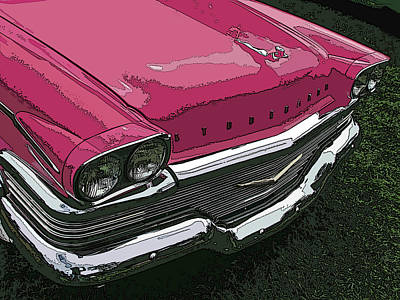 Pink Studebaker Nose Study Poster
