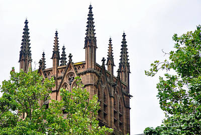 Pinnacles Of St. Mary's Cathedral - Sydney Poster