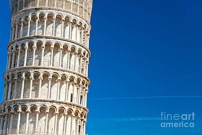 Poster featuring the photograph Pisa Leaning Tower by Luciano Mortula