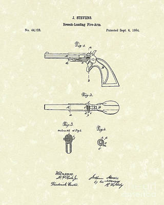 Pistol 1864 Patent Art  Poster by Prior Art Design