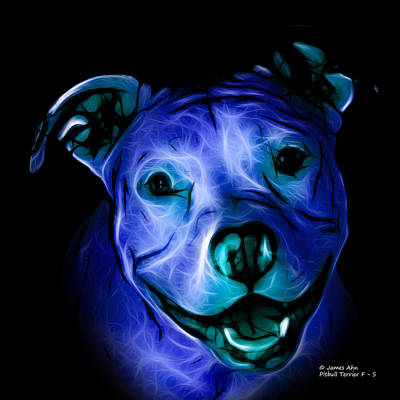 Pitbull Terrier - F - S - Bb - Blue Poster