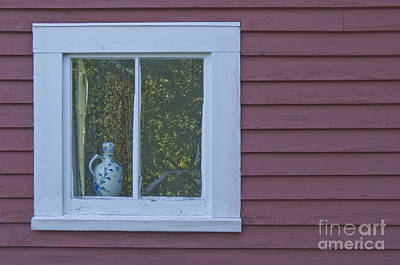 Pitcher In Window Poster by Jim Wright