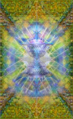 Pivortexspheres On Chalicell Garden Tapestry V Poster