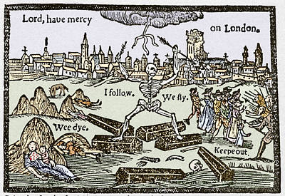 Plague In London, 1625 Poster by Sheila Terry