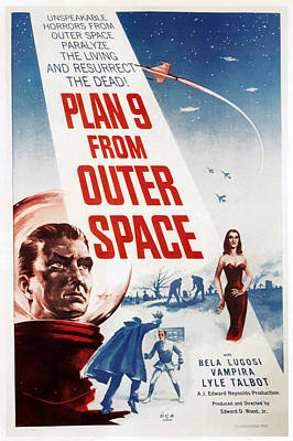 Plan 9 From Outer Space, 1959 Poster by Everett