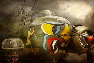 Plane - Pilot - Airforce - Dog Daize Poster by Mike Savad