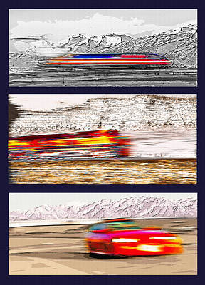 Planes Trains Automobiles Triptych Poster by Steve Ohlsen