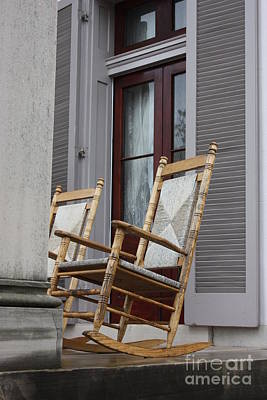 Plantation Rocking Chairs Poster by Carol Groenen